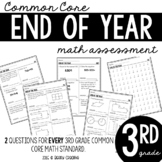 Third Grade End of the Year Common Core Math Assessment