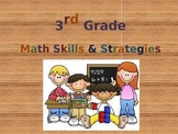 Third Grade Math Skills & Strategies (Powerpoint)