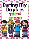 Third Grade Memory Book {During My Days in Third Grade}