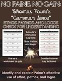Thomas Paine's Common Sense: Ethos, Pathos, and Logos Chec