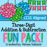 Three Digit Addition and Subtraction Fun Pack-Common Core Aligned