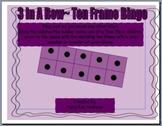 Three in a Row~ Ten Frame Bingo
