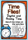 Time Flies! Analog/Digital Time-hour, half, quarter, 5 min
