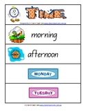 Time Word Wall Math Resource - 4 pages
