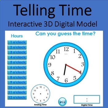 Telling Time on the Clock - 3D pdf