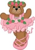 Tiny Dancer Girl Ballet Bears in Tutu -Free Clipart