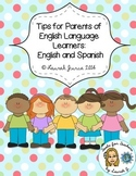 Tips for Parents of Early ELLs: English and Spanish