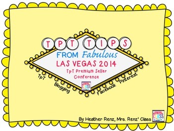 Tips from the TpT Premium Seller Conference ~ Las Vegas 2014