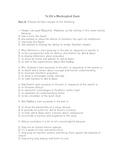 To Kill a Mockingbird Final Test (Harper Lee)