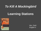 To Kill a Mockingbird Learning Stations