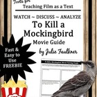 To Kill a Mockingbird Movie Guide, End of Year, Sub Plans,