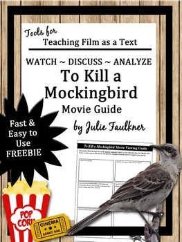 To Kill a Mockingbird Movie Guide, End of Year, Sub Plans, Evaluate Media, FREE