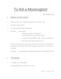 To Kill a Mockingbird - Pre-reading notes