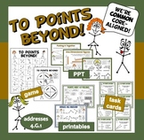 To Points Beyond! 1-D geometry game + ppt + printables set
