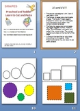 Toddler Preschool- Cut and Paste Shapes