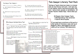 Tom Sawyer Literary Test Pack