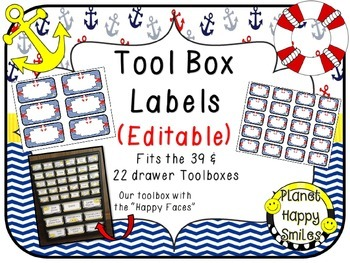 Toolbox Labels (Editable) ~ Nautical