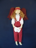 Tooth Dude (Fairy) Doll - Burgandy Outfit and Brown Hair
