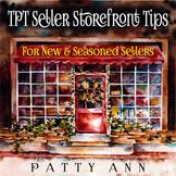 TpT Seller Storefront Tips ~  4 Newbies & Seasoned Sellers