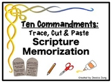 Ten Commandments: Trace, Cut & Paste Scripture Memorization