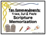 Trace, Cut & Paste Scripture Memorization: The Ten Commandments