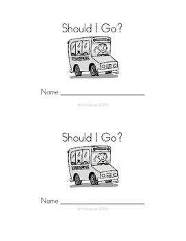 Tranportation Theme - Emergent Reader - Should I Go?