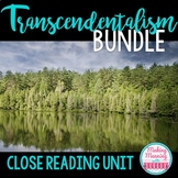 Transcendentalism Bundle - Notes, Close Reads Emerson, Tho