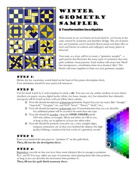 Transformations: a Quilt Sampler Project for Geometry (Coo