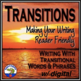 Transition Words and Phrases Lists and Sorting Activities