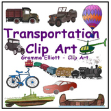 Clip Art - Vehicles - Realistic Transportation - Color and