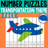 Transportation Theme : 20 Number Puzzles | Counting to 10
