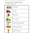 Transportation Theme Unit - Worksheets File Folder Games