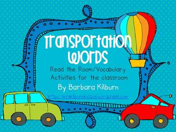 Transportation Words {Vocabulary/Read the Room Activity}