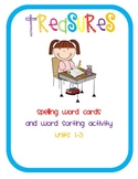 Treasures 1st Grade Spelling Cards and Word Sorts Units 1-3