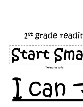 """Treasures Grade 1 Start Smart """"I Can"""" objectives strips (CCSS)"""
