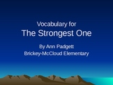 Treasures Vocabulary Power Point for The Strongest One