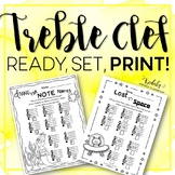 Treble Note Names Worksheet Pack
