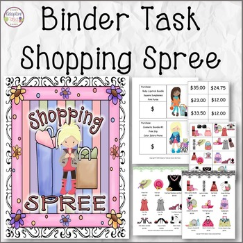 Trendy Shopping Spree Math Activity