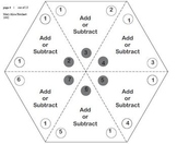 Triangle Flash cards - add/sub - with activities