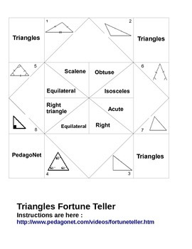 Triangles Fortune Teller