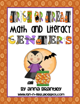 Trick or Treat Math and Literacy Center Packet!!