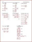 Trig Identities - Simplify, Verify, Solve (WS)