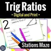 Trig Ratios Stations Maze Activity