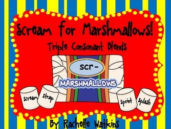 Triple Consonant Blends Word Sort scr- spl- str- spr-