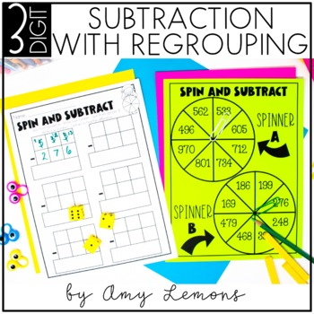 Triple Digit Subtraction With Regrouping {3-Digit}