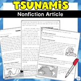 Tsunami Non-fiction News Article and Worksheet