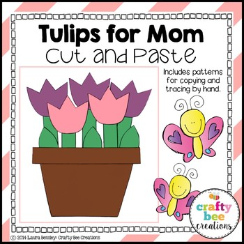 "Mother's Day ""Tulips for Mom"" Cut and Paste"