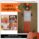 Turkey Craftivity { Thanksgiving Craft and Writing }
