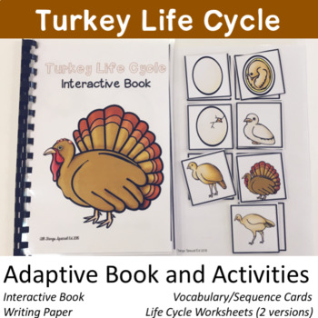Turkey Life Cycle Activities with Adaptive Book