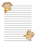 Turkey Lurkey Lined Paper